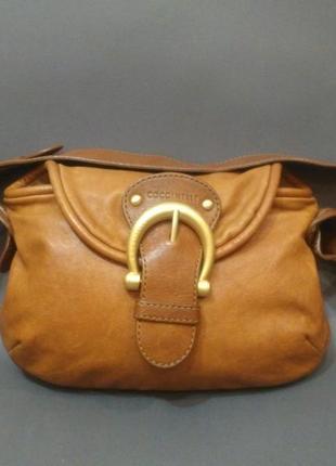 Шикарная кожаная сумка coccinelle