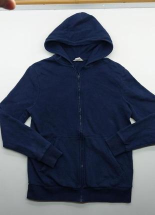 Унисекс синяя базовая кофта на молнии h&m