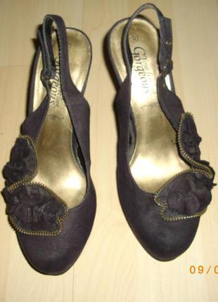 Туфли женские велюровые gorgeous