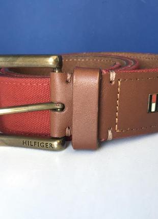 Классный кожаный ремень от tommy hilfiger