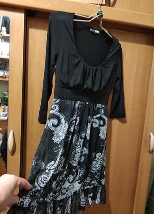 Платье женское,размер 44_46,,s турция легкое платье,верх трикотаж