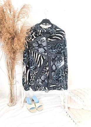 Рубашка в тигровый принт  батал