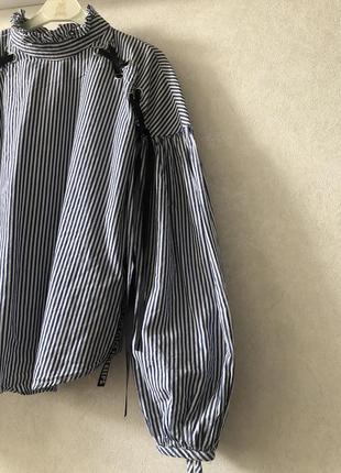 Блузка zara с рукавами фонариками
