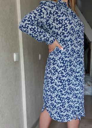 Шелковое платье- рубашка  zara