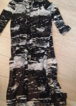 Пляжное прозрачное платье парео накидка divided миди платье