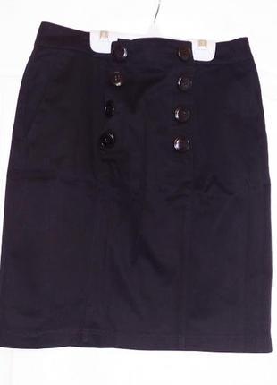 Черная классическая юбка oggi. размер м.