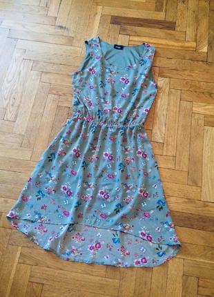 Летнее,шифоновое платье,принт цветы,page