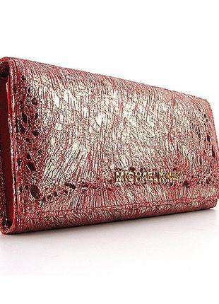 Красная оригинальный кожаный женский кошелек
