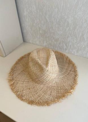 Соломенная федора шляпа из соломы капелюх