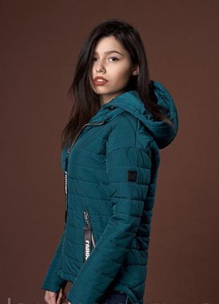 Демисезонная куртка с удлиненной спинкой