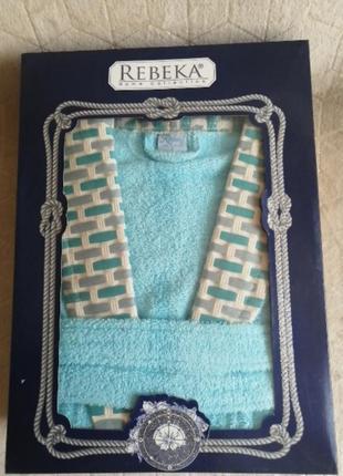 Качественный натуральный котоновый/хлопковый махровый халат, унисекс, пр-во турция, размер с
