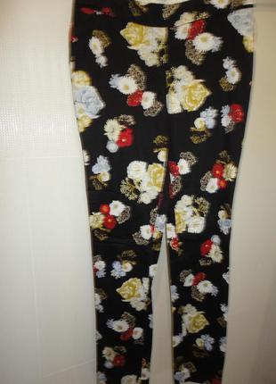 Брюки, штаны цветные из коттона с эластаном