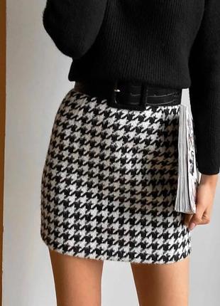 Новая юбка в гусиную лапку