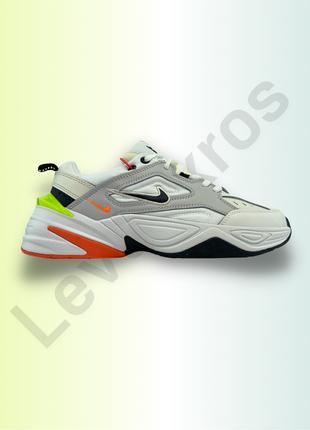 Nike m2k tekno white yellow orange