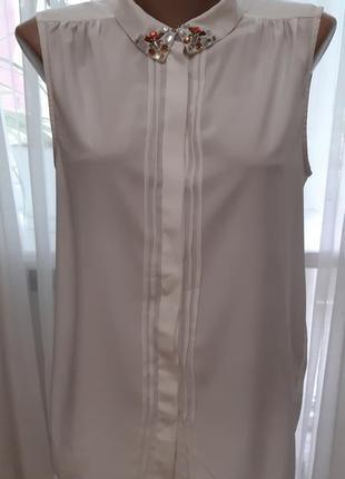 Блузка бело-молочного цвета vero moda