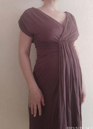 Фирменное платье для беременных цвет марсала