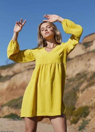 Легенька сукня міні / платье с v-образным вырезом