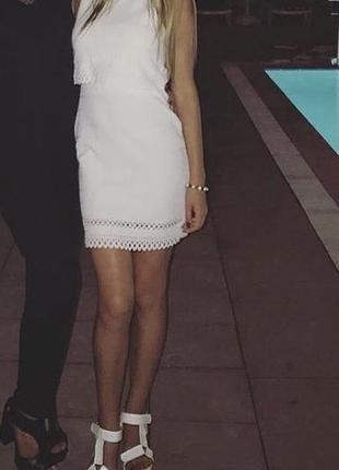 Платье белое new look