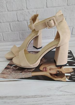 Босоножки женские на каблуке, бежеві босоніжки, босоніжки жіночі на каблуку 36-40