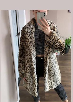Леопардовая шуба/пальто new look