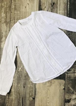 Блуза белая 122/128