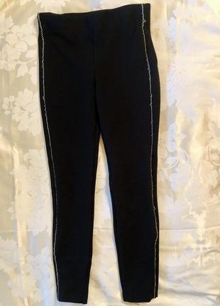 Zara штаны с высокой талией🔝 и цепью вместо лампасов 😎