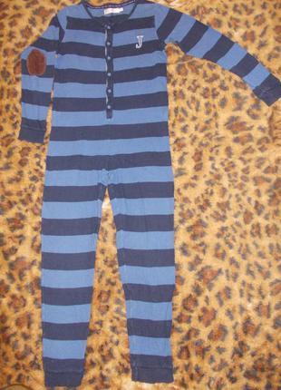 Пижама комбинезон слип человечек на 11-12 лет рост 146-152 см