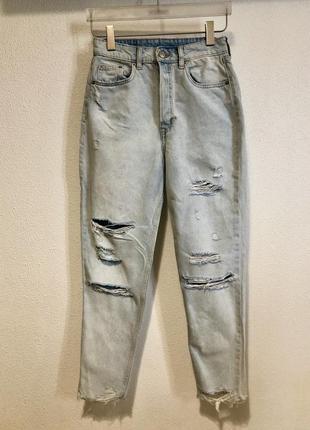 Рваные джинсы h&m divided 36 xs-s