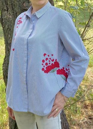 Рубашка с вышивкой house р.46-52