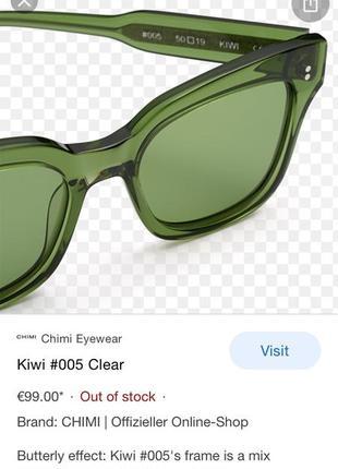 Очки солнцезащитные chimi kiwi clear 0055 фото