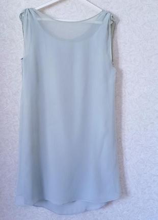 Легкое нарядное платье-туника свободного силуэта mango