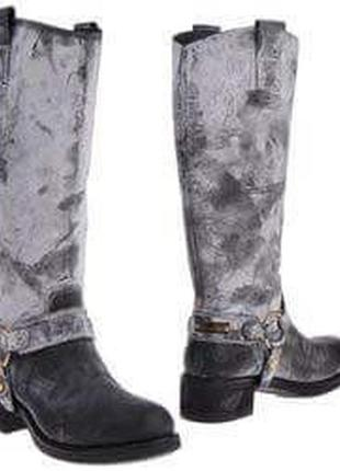 Эксклюзивные кожаные сапоги дорогой бренд manila grace оригинал