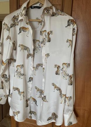 Сорочка zara з тиграми