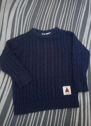 Продам вязаный свитерок с мишкой
