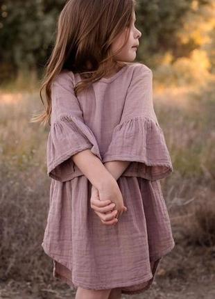 Платье из муслина на девочку.