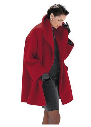 Шикарное, шерстяное , фирменное пальто oversize из каталога ashley brooke. р. 46-50.