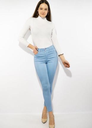 Зауженные женские штаны с высокой посадкой зауженные женские брюки с высокой посадкой