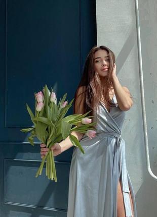 Сіре (срібне) плаття для подруг нареченої