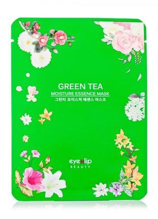 Тканевая маска для лица eyenlip moisture essence mask green tea увлажняющая, 25 мл