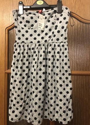 Платье нм горох s