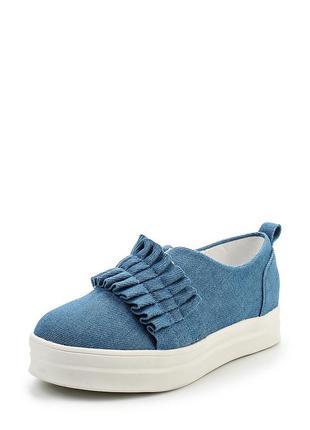 Новые слипоны на платформе lost ink (asos). женские криперсы, джинсовые кроссовки