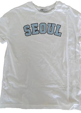 Футболка майка k-pop seoul bts к-поп оверсайз с принтом