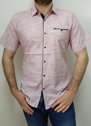 Стильная, хлопковая, летняя, приталенная рубашка