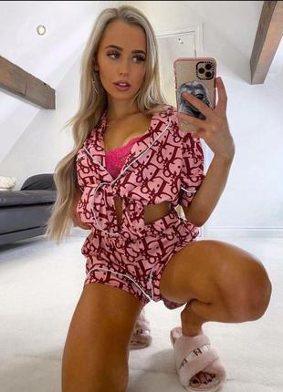 Стильная пижама, люкс качество стамбул, размер хл.