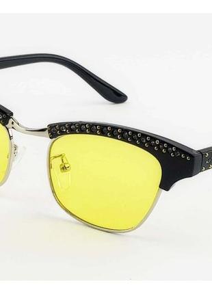 Очки солнцезащитные жёлтые