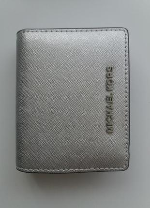Кошелек michael kors jet set travel saffiano leather card holder оригинал