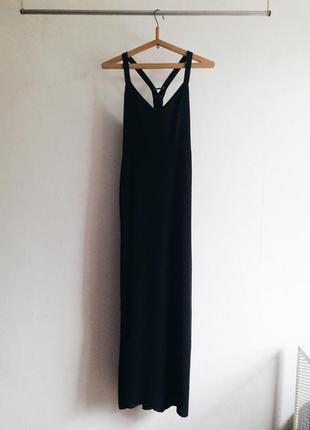 Платье длинное в пол вечернее классика выпускное сарафан на бретелях forever 21