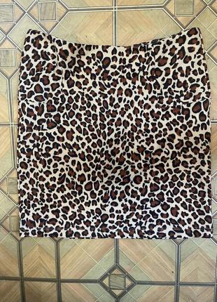 Спідниця леопард
