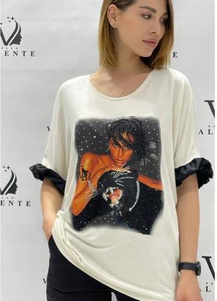 Женская футболка блузон туника турция bello valente