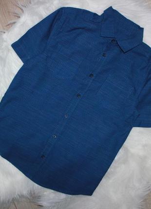Шведка на подростка рубашка с коротким рукавом синяя подростковая шведка сорочка woolworths р.146-15